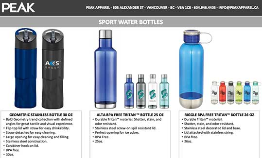 Bottles & Tumblers Catalogue