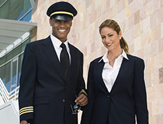 pilot and air attendant